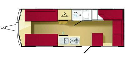 Elddis Avante 556 floorplan