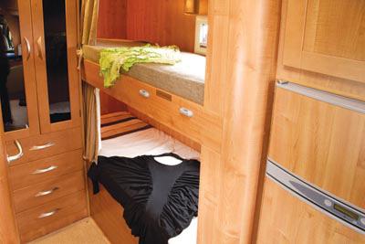 Rear bunk beds
