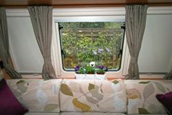 Wide window shelf in the lounge