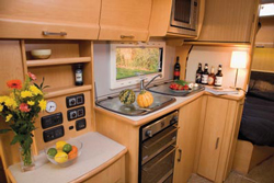 Elddis Crusader Supersirocco kitchen