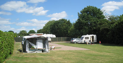 Grass pitches at Highclere Farm