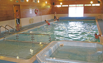 One of two indoor pools
