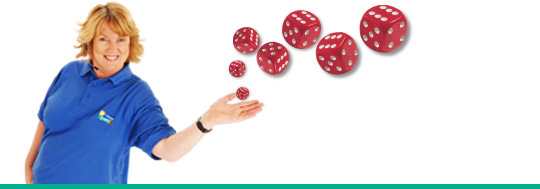 Play Roll the Dice to win £1000!