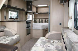 Inside the caravan