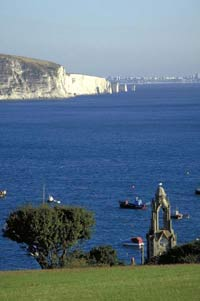 The sea-side town of Swanage