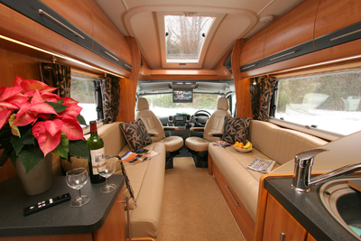 Auto-Trail Comanche interior looking forward