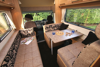 Elddis Autoquest Dining area