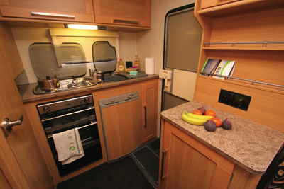 Elddis Autoquest Kitchen area