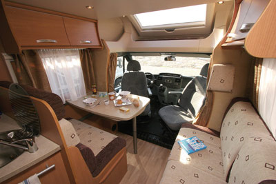 chausson flash interior looking forward