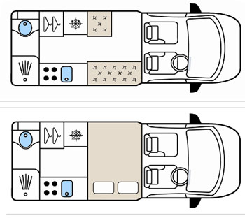 Auto-sleepers Kemerton Floorplans