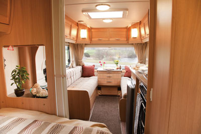 Elddis Xplore 540 lounge from bedroom