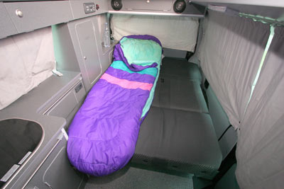 Bilbo's Komba LWB Sleeping Arrangements
