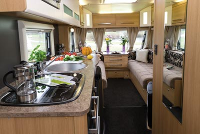 Elddis Avante 515 Caravan Kitchen and Lounge