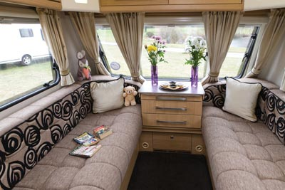 Elddis Avante 515 Caravan Lounge Seating