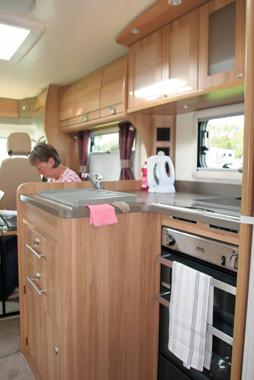 Bailey Approach 740 SE Motorhome Kitchen