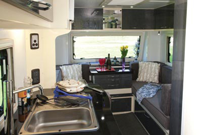 Stealth T58 Caravan kitchen interior