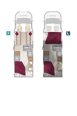 Bailey Approach 740 SE Motorhome floorplan