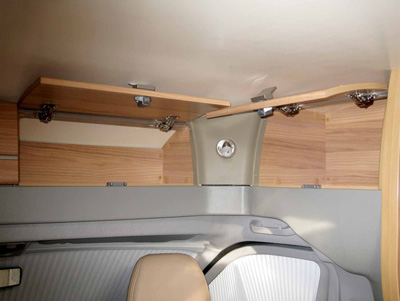 Bailey Approach 740 SE Motorhome storage over cab
