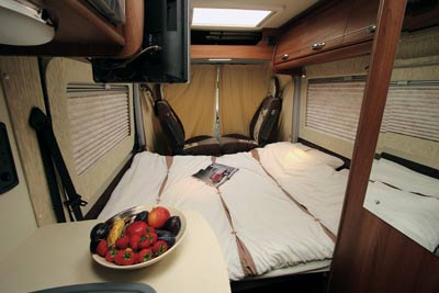 motorhome double bed