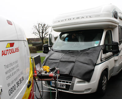 cleaning motorhome windscreen