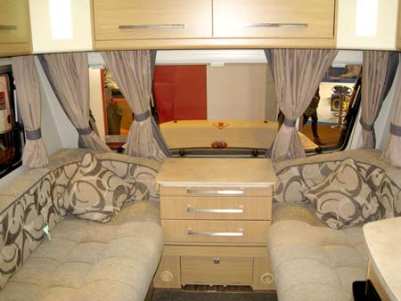 Elddis Avante 574 kitchen front lounge