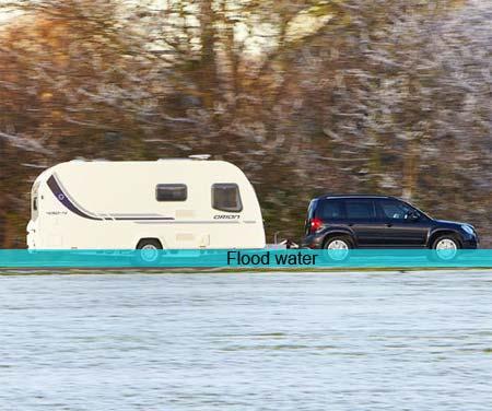 Caravan fording depth