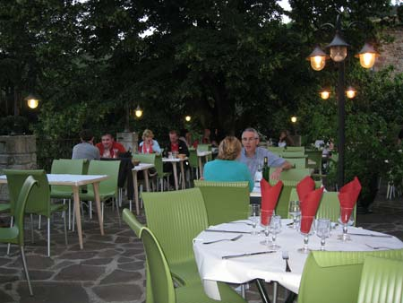 The Dining terrace at Les Ranchisses