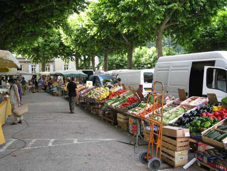 The market at Largentiere