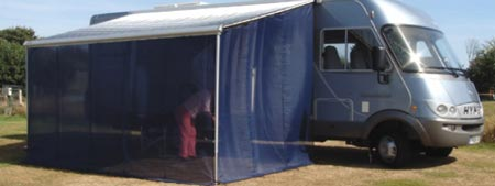 Wind Blockers Turn Your Out Canopy Into An Awning