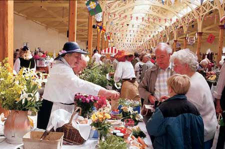 Barnstaple market close up
