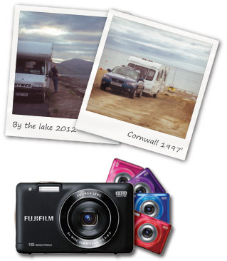 camera and poloroids