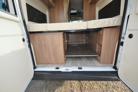 Pilote F600DGA Motorhome Under Bed Storage