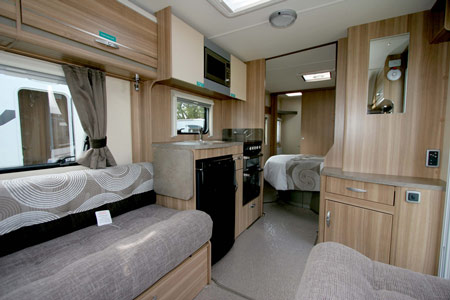 Sterling Eccles Sport 584 Caravan Kitchen