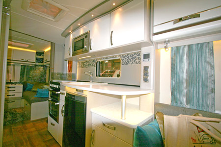 Swift Colour Concept Caravan Kitchen