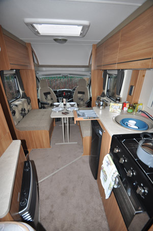 Swift Escape 662 Motorhome Kitchen