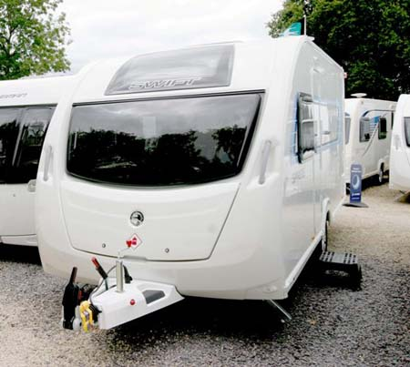 Swift Sprite Alpine 4 berth caravan exterior