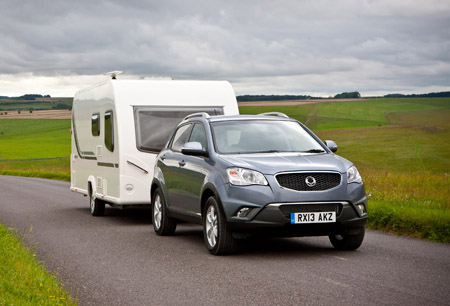 How The Ssangyong Korando Is Designed For Towing Caravan