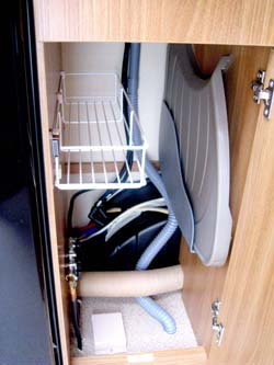 Swift Sprite Alpine 4 berth caravan storage for draining bord