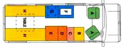 Devon Aztec 2013 motorhome floorplan