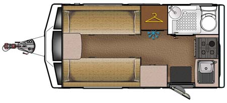 Lunar Ariva 2013 two-berth caravan floorplan