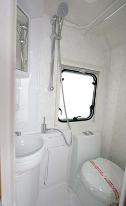 Lunar Ariva two-berth caravan shower room