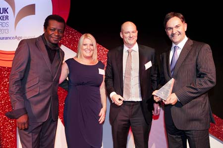 Caravan Guard accept Investment In People award at UK Broker Awards 2013