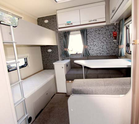 Swift Sterling Eccles Sport 586 rear bunk room