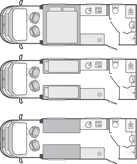 Bessacarr 442 motorhome floorplan