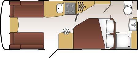 Coachman Vision 560-4 Caravan Floor Plan