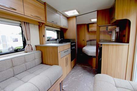 Coachman Vision 560-4 Caravan Kitchen and bedroom