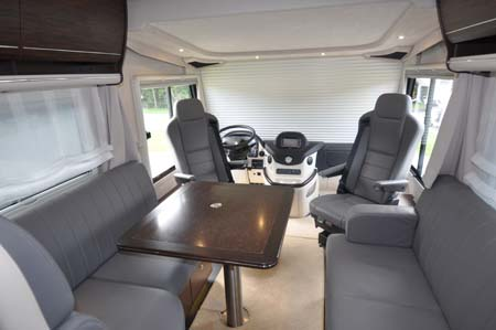 Concorde Charisma III 900LS Motorhome Interior looking forward