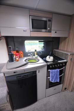 Bessacarr 442 motorhome kitchen