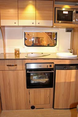 Duel Kitchen Sink Caravan
