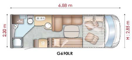 Pilote Reference G690LR Motorhome - floor plan